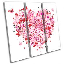 Floral Heart Pink Love - 13-0043(00B)-TR11-LO